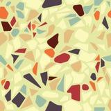 Organische terazzo abstracte moderne geelgroene oranje bruine seamel vector illustratie