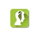 Organische Umwelt-saubere Sorgfalt-Ikone Eco Lizenzfreies Stockfoto