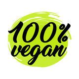 Organische und Logoaufkleber des strengen Vegetariers Stockbild