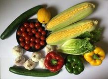 Organische veggies Vers voedsel stock afbeeldingen