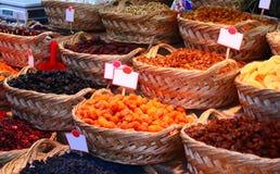 Organische Verschillende Types van Droge of Gekonfijte vruchten Stock Fotografie