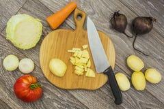 Organische verse groenten voor soep royalty-vrije stock afbeeldingen