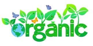 Organische Wereldaarde - ga Groen Stock Afbeelding