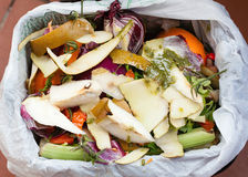 Organischer Abfall für Mischung Stockfotos