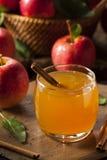 Organischer Apfelwein mit Zimt Stockfotos