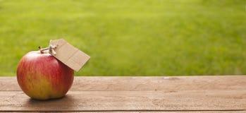 Organischer beschrifteter Apfel Lizenzfreie Stockbilder