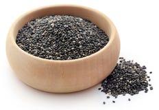 Organischer Chia Seed, Supernahrung stockbilder
