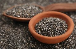 Organischer Chia Seed, Supernahrung stockfoto
