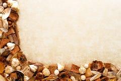 Organischer Erde-Ton-Dekorationpotpourri-Hintergrund Stockbild