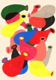 Organischer Formschönheitskontrastton-Illustrationshintergrund Stockbild