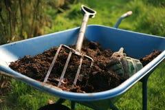 Organischer Gärtner Stockbild