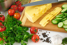 Organischer Gemüsehintergrund Stockbild