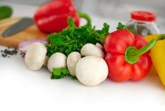 Organischer Gemüsehintergrund Lizenzfreies Stockfoto