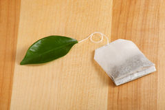 Organischer grüner Teebeutel Lizenzfreie Stockbilder