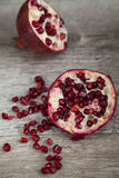 Organischer Granatapfel stockbilder