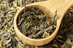 Organischer grüner Tee Stockbild