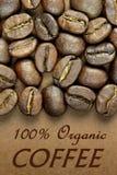 100% organischer Kaffee Stockbild