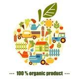 Organischer Landwirtschaftshintergrund Lizenzfreies Stockfoto