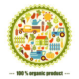 Organischer Landwirtschaftsvektorhintergrund Lizenzfreie Stockfotos
