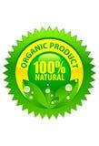Organischer Produktkennsatz 100% natürlich Stockfotos