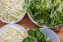 Organisches ökologisches Lebensmittel des strengen Vegetariers Stockfoto