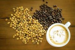 Organisches Arabica Kaffee des thailändischen Elefantscheißekaffees lizenzfreies stockfoto