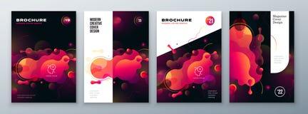 Organisches Broschürenplandesign Helle flüssige Farbschablone für Broschüren-, Katalog-, Zeitschriften- oder Fliegerhintergrund V lizenzfreie abbildung