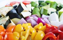 Organisches Gemüse betriebsbereit zu braten stockfoto