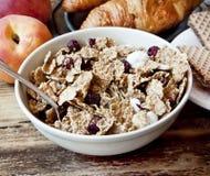 Organisches Granola zum Frühstück Lizenzfreie Stockfotos