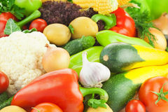 Organisches neues gesundes Gemüse/Nahrungsmittelhintergrund Stockfotografie