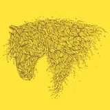 Organisches Pferd Stockfoto