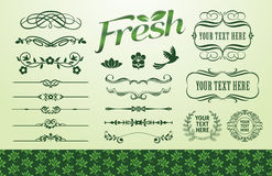 Organisches Verkleidungset Lizenzfreie Abbildung