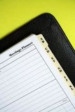 Organise: meetings. Business filofax showing the meeting planner page Stock Images