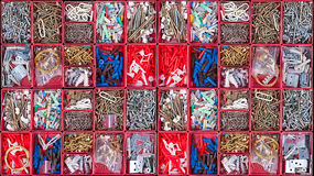 Organised building accessories viewed from above Royalty Free Stock Photography