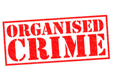 ORGANISED CRIME. Red Rubber Stamp over a white background Stock Photography