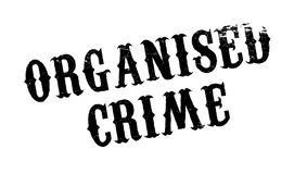 Organised Crime rubber stamp Stock Image