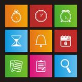 Organiser metro style icon sets Royalty Free Stock Images