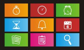 Organiser metro style icon. Suitable for user interface Royalty Free Stock Images