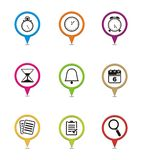 Organiser pointers. Suitable for user interface or map pointer Stock Photography