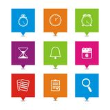 Organiser square pointers. Suitable for user interface Stock Photo