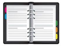Organiser vector illustration. Organiser  illustration, isolated on white Stock Photography