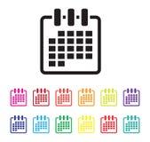 Organiserande symbolsuppsättning för datum royaltyfri illustrationer