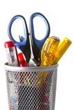 Organiserat stag - kontorshjälpmedel Royaltyfri Bild