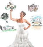 Organisering av ett bröllop royaltyfri fotografi