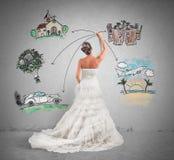 Organisering av ett bröllop Royaltyfri Foto