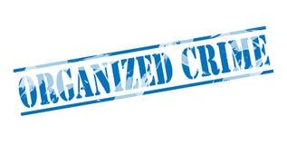 Organisez le timbre bleu de crime Images libres de droits