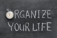 Organisez votre vie Images libres de droits