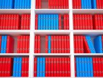Organisierende Dateien, 3D Lizenzfreie Stockfotografie