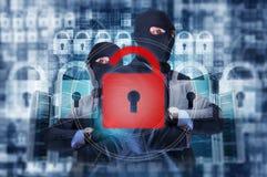 Organisierte Internetkriminalitäts-Gruppe Stockfoto