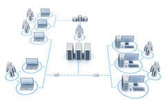 Organisiertes Netz Lizenzfreies Stockfoto
